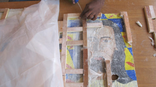 Haiti mural restoration