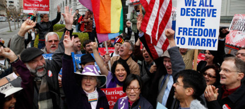 Rally against Proposition 8
