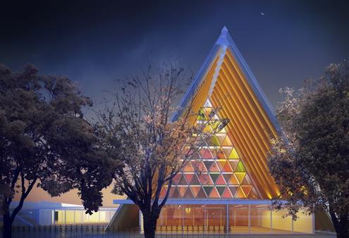 An architect's impression of what Christchurch's Transitional Christchurch will look like. Photo/Anglican Taonga