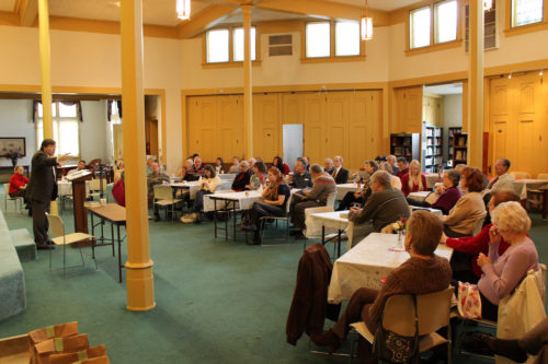 The Episcopal and Baptist congregations joined together for Christian education as well as worship. Photo/Greg Sexton