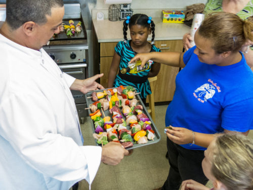 'Chef Jimmy' shows kids that cooking good food is fun and easy. Photo: Luke Blount
