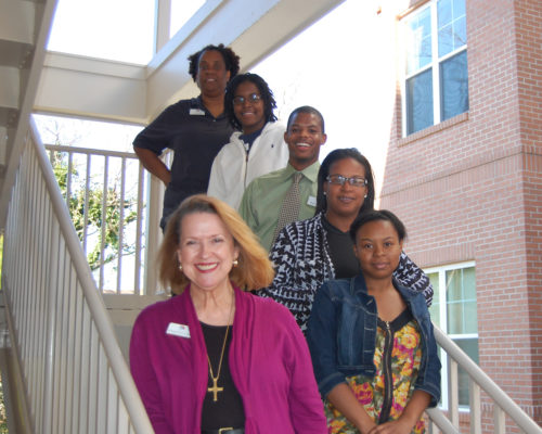 The team at Rainbow Village include several former residents who've since become staff members.