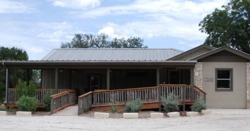 The new Welcome Center at Camp Capers houses a registration and staff offices, an alumni room, and summer camp store.