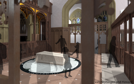 Detailed designs for the tomb of King Richard III. Photo: Leicester Cathedral