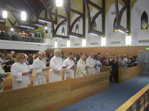 Acto de consagración de la iglesia de la Epifanía—la congregación anglicana que tiene su sede en el Centro Anglicano— el 28 de septiembre.
