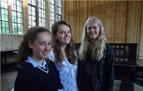 Girls from St Mary's Calne have raised £1000 towards building the school. Photo: St Mary's Calne
