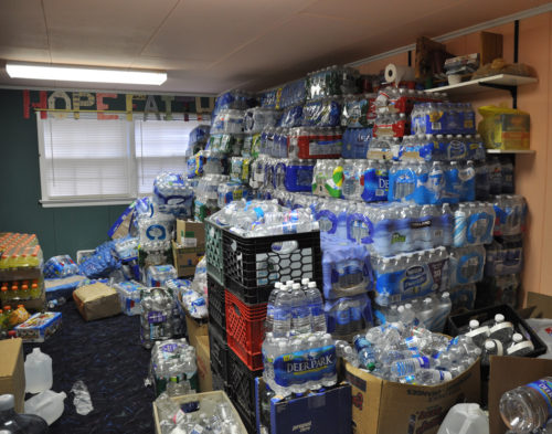 After Hurricane Sandy hit the Jersey Shore, donations poured into many Episcopal churches, including St. Mary's by the Sea in Point Pleasant Beach. Photo: Mary Frances Schjonberg, Episcopal News Service
