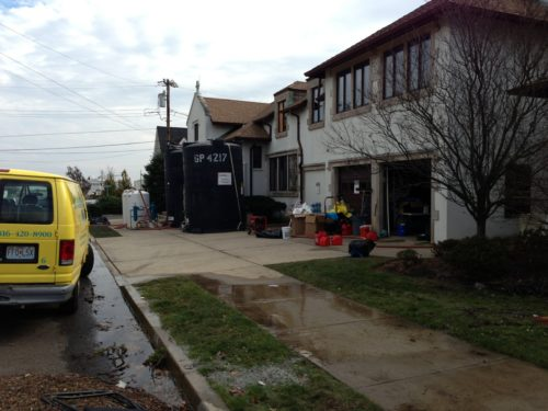 Flooding from Hurricane Sandy's storm surge toppled three oil storage tanks in the basement of St. George's by-the-River in Rumson, New Jersey, requiring a major infrastructure repairs as well as a biohazard remediation project. Photo: St. George's by-the-River