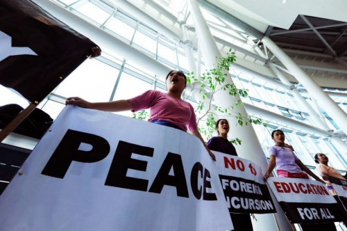 Un llamado a laborar por la justicia y la paz durante la Plenaria Asiática. Foto de Peter Williams para el CMI.