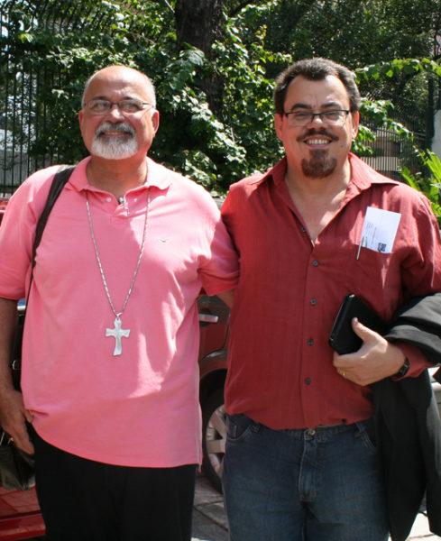 Bishop Francisco de Assis da Silva (right) succeeds Bishop Maurício José Araújo de Andrade of Brasilia, who has served as primate since 2006. Photo: Nina Boe