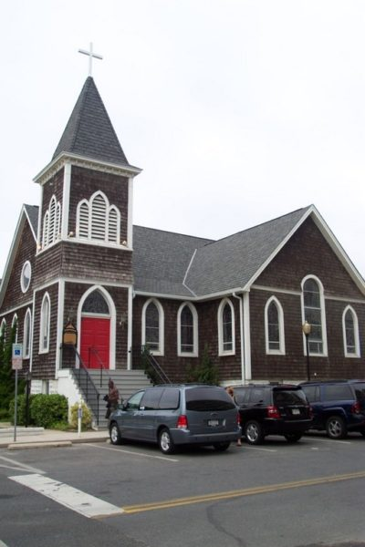 St. Paul's By-the-Sea in Ocean City, Maryland, before the blaze.