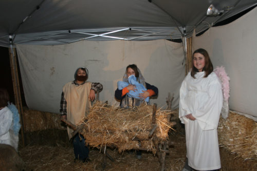 Grace Church's living Nativity scene is San Marcos, California. Photo: Teresa Osborne