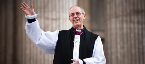 Archbishop of Canterbury Justin Welby learned recently by way of a paternity test that his father was the late Sir Anthony Montague Browne rather than Gavin Welby, as he and his mother believed. Photo: Reuters