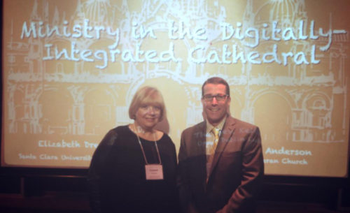 Episcopalian Dr. Elizabeth Drescher and Lutheran Pastor Keith Anderson have been collaborating on issues of church communication and social media. Photo: Facebook/Upper Dublin Lutheran Church