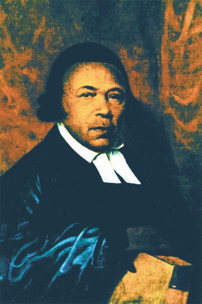 Portrait of Absalom Jones rendered by Philadelphia artist Raphaelle Peale in 1810.