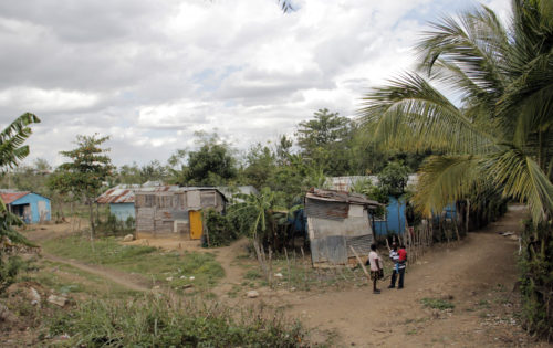 There used to be a large sugar cane plantation in Gautier and many Haitian migrants lived nearby in bateyes like this one. Photo: Lynette Wilson/Episcopal News Service