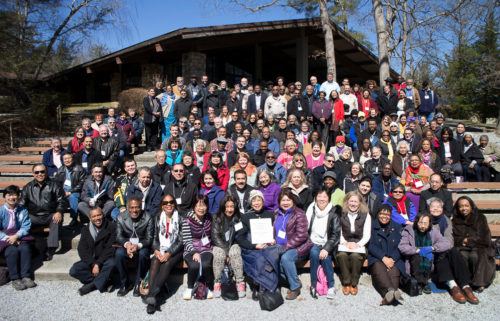 """About 200 clergy and laity from across the Episcopal Church gathered for the New Community Gathering and to """"advance the sacred dream"""" at Kanuga. Photo: Lynn A. Collins"""
