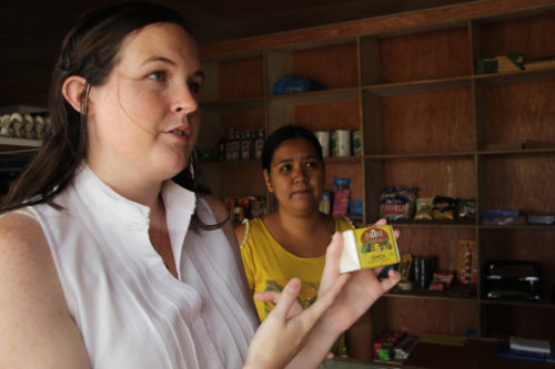YASCer Ashley Cameron focuses on micro-finance in her work with the Diocese of Santiago. Photo: Emily Cherry