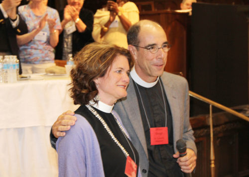 The Very Rev. Brian Seage and his wife, the Rev. Kyle Seage. Photo: Jim Carrington