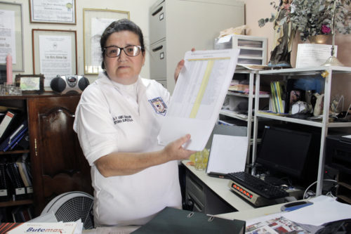 The Rev. Vaike Madisson de Molina, the vicar San Bartolomé Apóstol in Siguatepeque, worked with the Ministry of Health to establish a nursing school at her church. Photo: Lynette Wilson/ENS