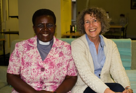 "The Rev. Terrie Robinson. right,  told the Standing Committee that on the issue of gender-based violence: ""We can be very proud of what Anglicans are doing, but not complacent"". Here she is pictured with Uganda MU president Canon Edidah Mujinya. Photo: ACNS"