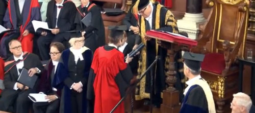 Presiding Bishop Katharine Jefferts Schori is awarded an honorary Doctor of Divinity degree from Oxford University on June 25.
