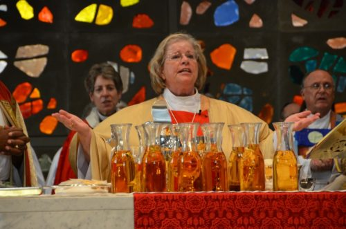 Bishop Suffragan of Maryland Heather Cook celebrates the Eucharist during her service of ordination and consecration to the episcopate. Photo: Richard Schori