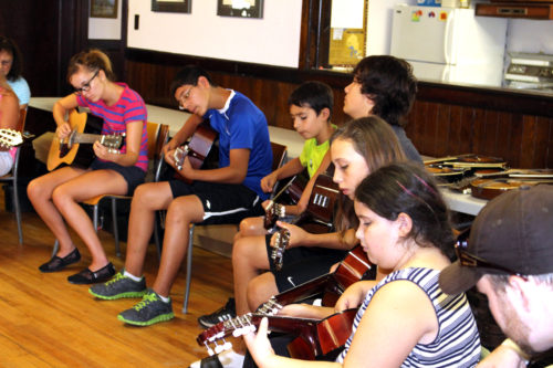 The music camp held in August at the Parish of Six Nations near Brantford, Ontario.