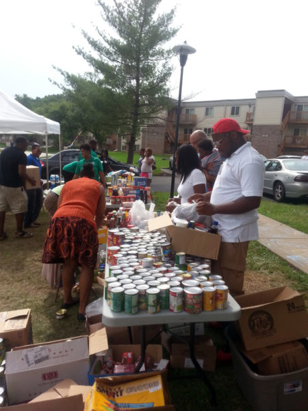 The food bank of St. Stephen's Episcopal Church in Ferguson serves the community through various satellite locations. Photo courtesy of the Rev. Steve Lawler