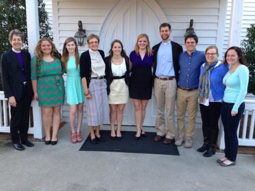 Presiding Bishop Katharine Jefferts Schori meets with campus ministers in North Carolina. Photo: Emily Gowdy Canady