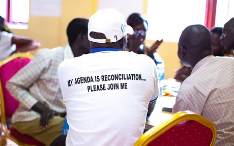 "The Peace Mobilisers group is an independent peace and reconciliation body in South Sudan meant to ""build bridges across political and social divides and promote healing and reconciling among all South Sudanese."" Photo: South Sudan Committee for National Healing, Peace and Reconciliation"
