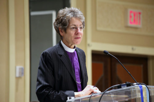 Presiding Bishop Katharine Jefferts Schori addresses the 50th anniversary gathering of the National Association of Episcopal Schools. Photo: Janet Kawamoto