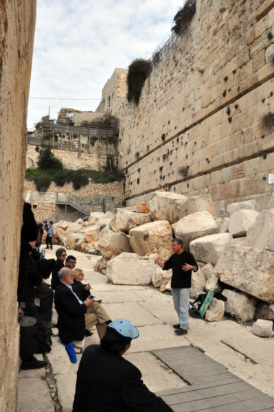The interfaith group tours the archaeological excavations in the Old City of Jerusalem. Photo: Matthew Davies/ENS