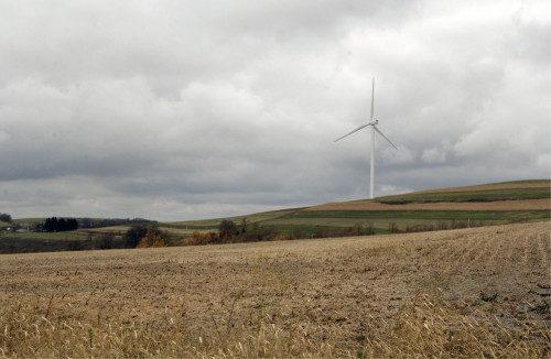 Las turbinas eólicas están multiplicando la energía a través de Pensilvania central. Foto de Lynette Wilson/ENS.