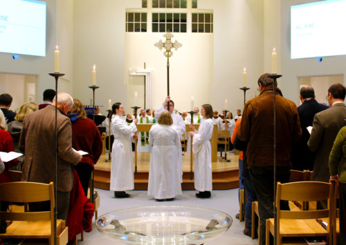 The opening Eucharist begins Feb. 13 at Virginia Theological Seminary's newly completed Immanuel Chapel. Photo: Virginia Theological Seminary