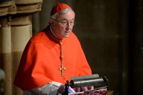 Cardinal Vincent Nichols, the Roman Catholic archbishop of Westminster, preached at a March 22 service of Compline at Leicester Cathedral when Richard's remains were received. Photo: King Richard in Leicester website (http://kingrichardinleicester.com/)
