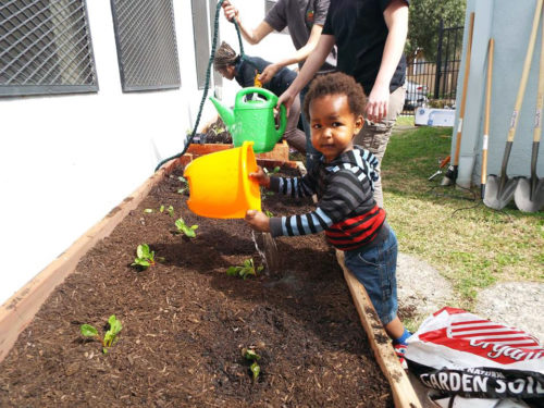 Garden planting at Christ the Good Shepherd Episcopal Church in Los Angeles. Photo: Courtesy of the Diocese of Los Angeles