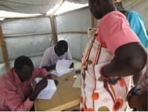 SUDRA ayuda a coordinar raciones de alimentos para las personas internamente desplazadas. Foto/SUDRA.