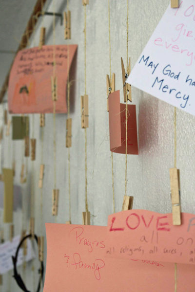 The Prayers of the People at Kairos West Community Center in Asheville, North Carolina, is a wall where visitors can hang their prayers. The ministry in the Diocese of Western North Carolina received a Mission Enterprise Zone grant. Photo: Kairos West Community Center via Facebook