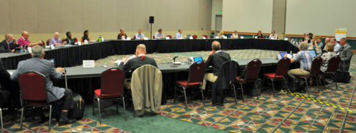 Members of the Joint Standing Committee on Program, Budget and Finance will present their proposed budget to the full General Convention on July 1.Photo: Mary Frances Schjonberg/ ENS