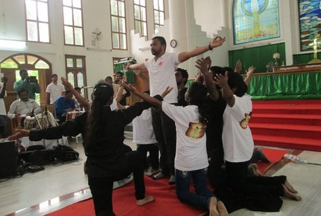 A scene from the youth festival 'Transformation- Youth against Addiction and Abuse'. Photo: Dicoese of Karimnagar