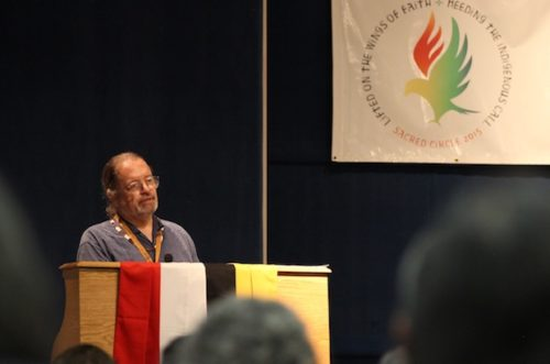 """National Indigenous Anglican Bishop Mark MacDonald calls on  Anglicans to be vigilant against climate injustice, saying """"the poorest, those on the land, are suffering the most."""" Photo: Anglican Video"""