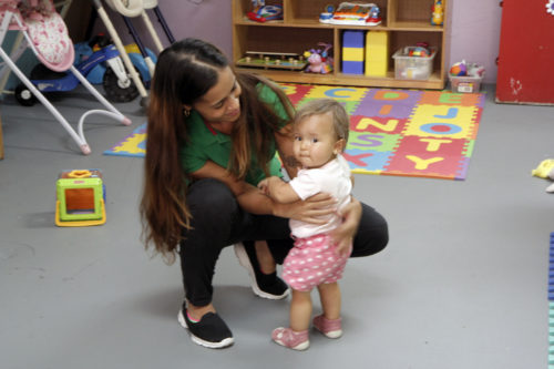 Carla Rodriguez volunteers at Saint Just Center 20 hours per week. VIDAS depends on volunteers to provide services. Photo: Lynette Wilson/ENS