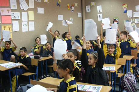 Students at Christ Church, Nazareth, photographed in 2008. Photo: Diocese of Jerusalem