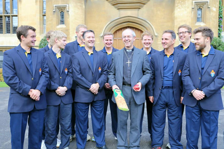Archbishop Justin Welby with the Anglican XI cricketers. Photo: ACNS