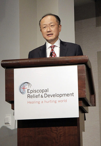 Dr. Jim Yong Kim, president of the World Bank Group, gave the keynote address at the 75th Anniversary International Symposium. Photo: Lynette Wilson/ENS