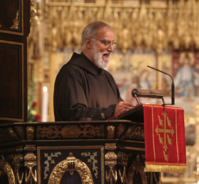 Preacher to the Papal Household, Father Raniero Cantalamessa, preaches in Westminster Abbey during the opening Eucharist for the Church of England's newest General Synod term. Photo: Picture Partnership/Westminster Abbey