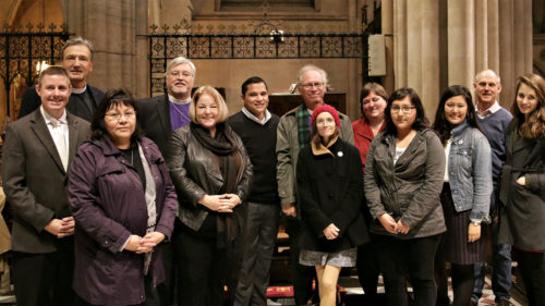 Episcopalians worshipped at the Cathedral of the Holy Trinity in Paris on Dec. 6. Photo: Jere Skipper