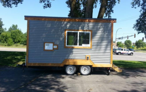 The Tiny House that will soon be home to  a homeless person through the winter and beyond. Photo: Episcopal Church in Minnesota