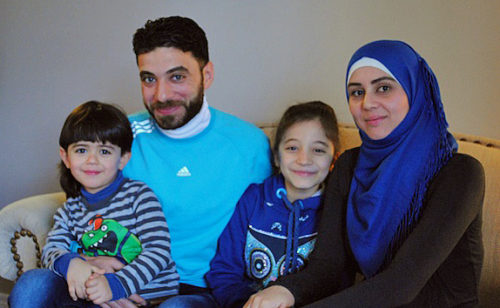 Fares, Bilal, Jana and Hiba arrived at their new home in Port Colborne on New Year's Day, almost three years after fleeing the war in Syria. Photo: André Forget